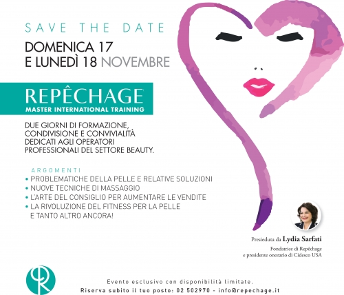 Save the date Masterclass Repechage 17-18 Novembre 2019